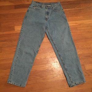Eddie Bauer size 8 petite high waist light jeans